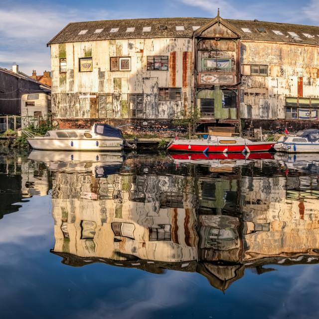 """""""Norwich Riverside Scene"""" stock image"""