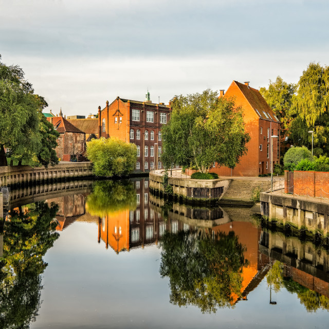"""Norwich river Reflections"" stock image"