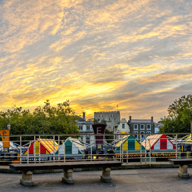 """Norwich Market at Dawn"" stock image"