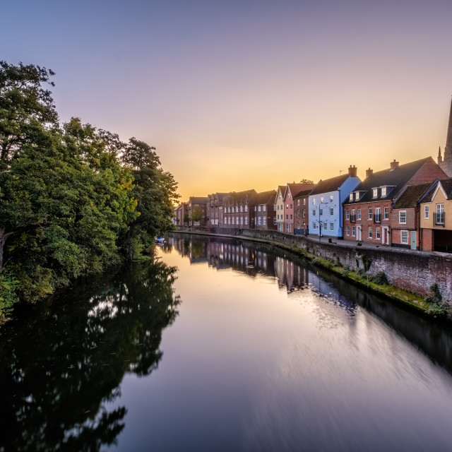 """Pre-dawn in Norwich"" stock image"
