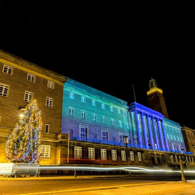 """Xmas Lights Norwich"" stock image"