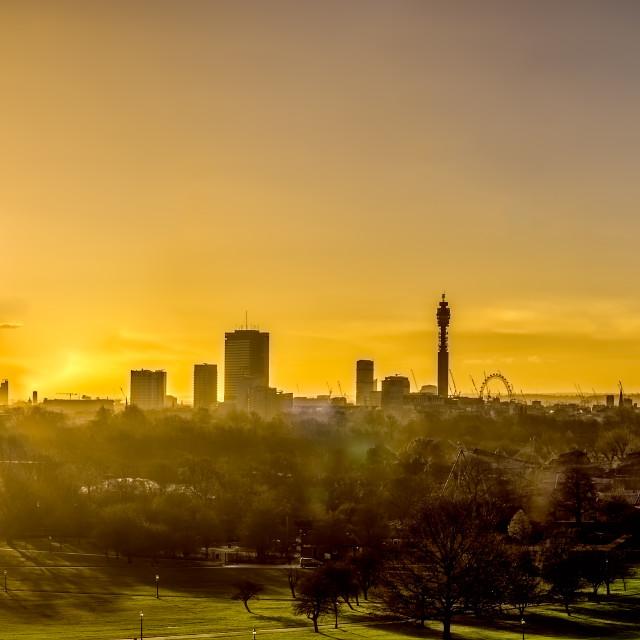 """""""London at Sunrise"""" stock image"""