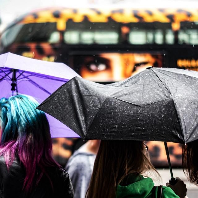 """London streets Trafalgar square"" stock image"