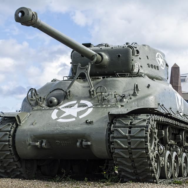 """""""M4 Sherman Tank"""" stock image"""