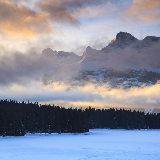 """Mount Rundle"" stock image"