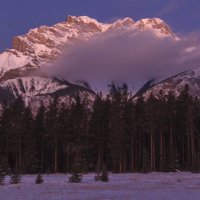 """""""Cascade Mountain"""" stock image"""