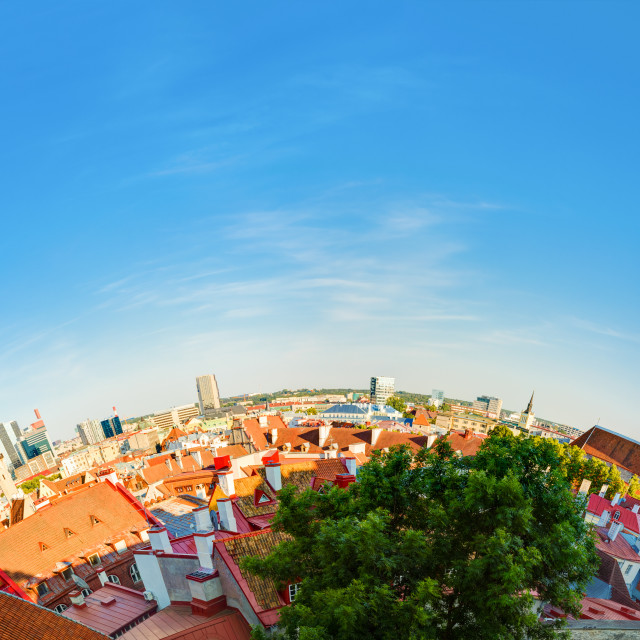 """Tallinn, Estonia. Traditional Ancient Architecture Of Old Town Cityscape In..."" stock image"