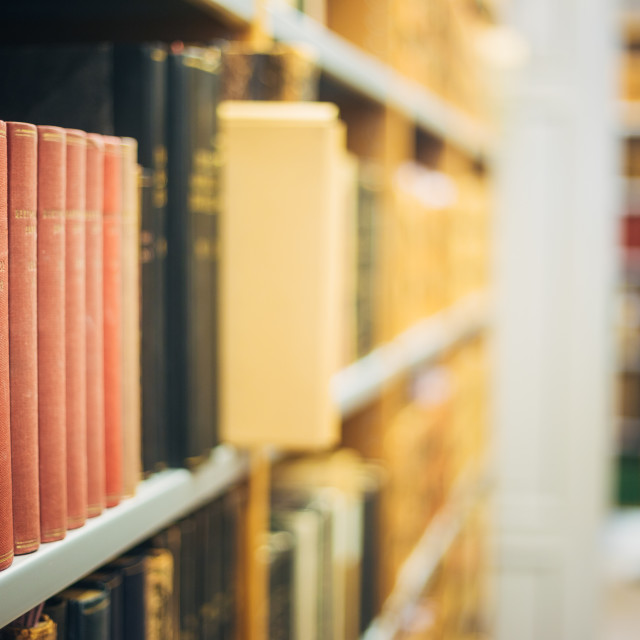 """The Collection Of Old Scarce Editions Of Retro Books In Vintage Hardcovers..."" stock image"