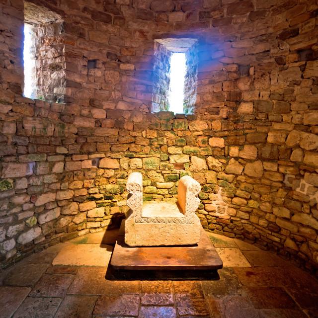 """""""Artefact in Euphrasian Basilica of Porec"""" stock image"""