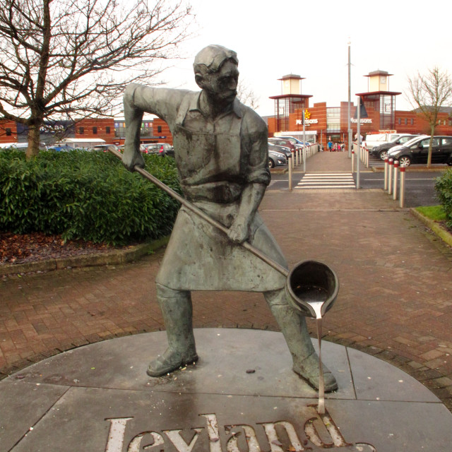 """Leyland Motors Statue"" stock image"