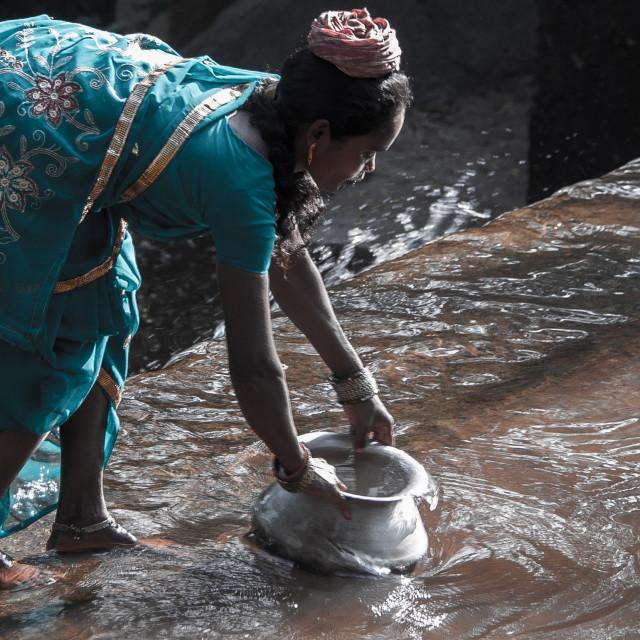 """woman in sari"" stock image"