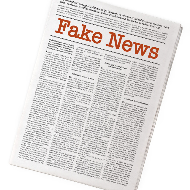 """Fake news on a daily paper"" stock image"