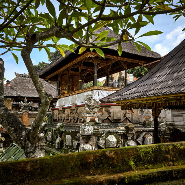 """Temple Grounds in Ubud, Bali"" stock image"