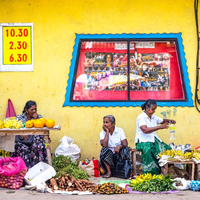 """Sri Lankan market"" stock image"
