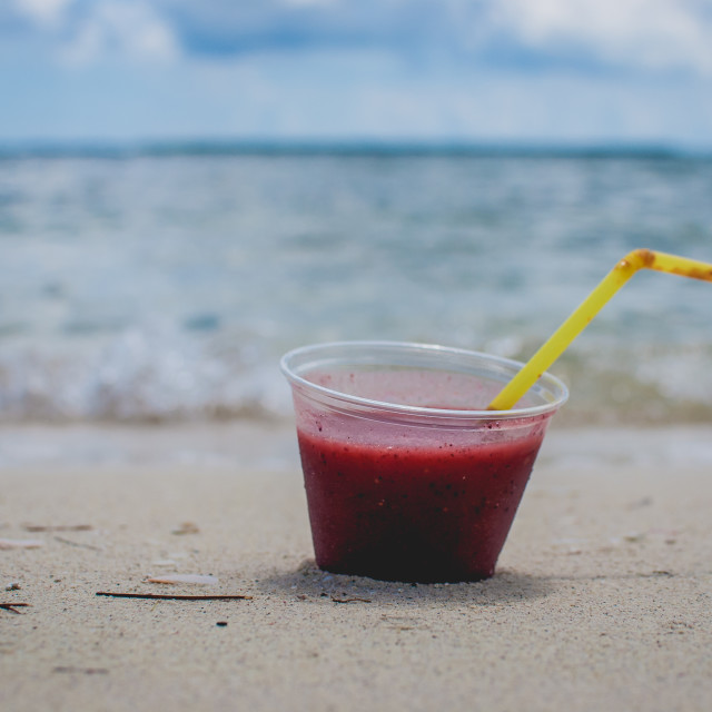 """""""Happy Hour at the Beach"""" stock image"""