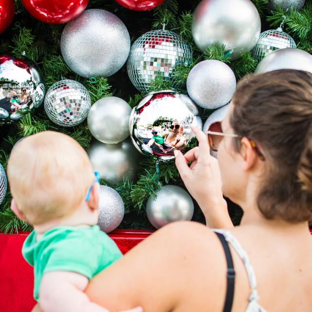 """Christmas Reflections"" stock image"