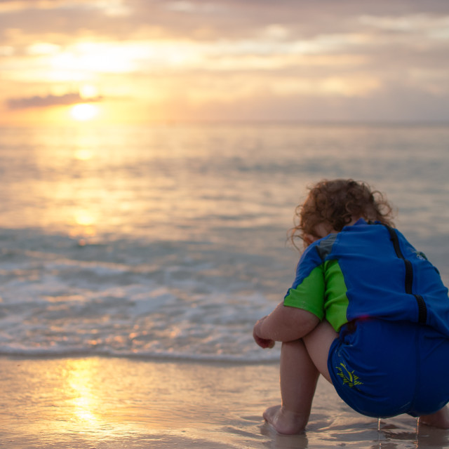 """""""Searching in the Sea"""" stock image"""