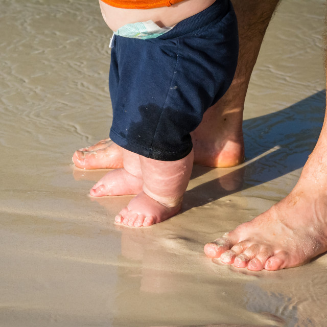 """""""Daddy love at the beach 2"""" stock image"""