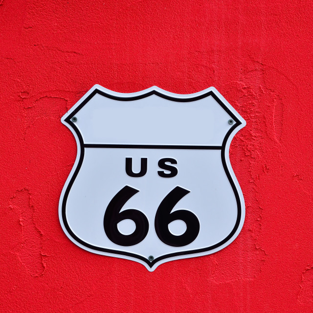 """Highway route 66."" stock image"