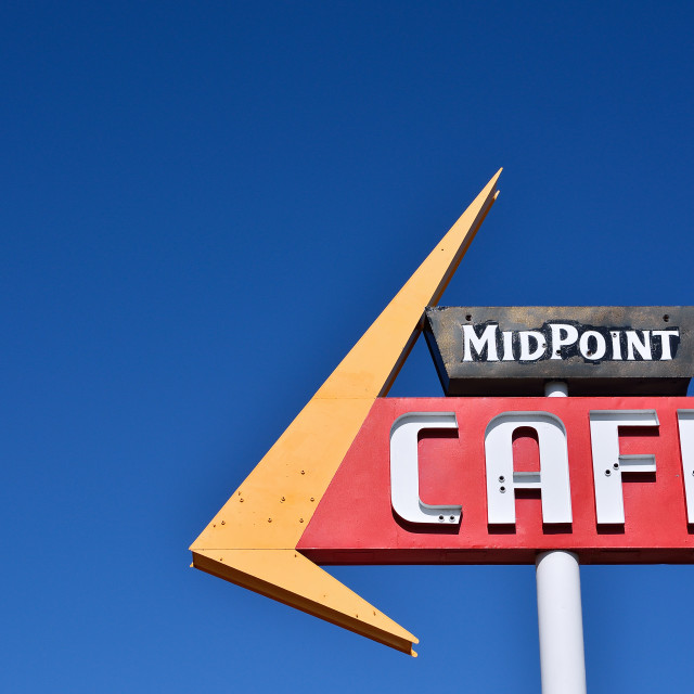 """Midpoint Cafe Route 66."" stock image"
