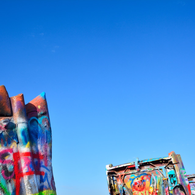 """Cadillac Ranch in Amarillo, Texas."" stock image"