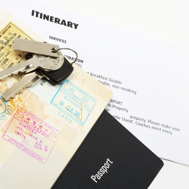 """holiday travel documents"" stock image"