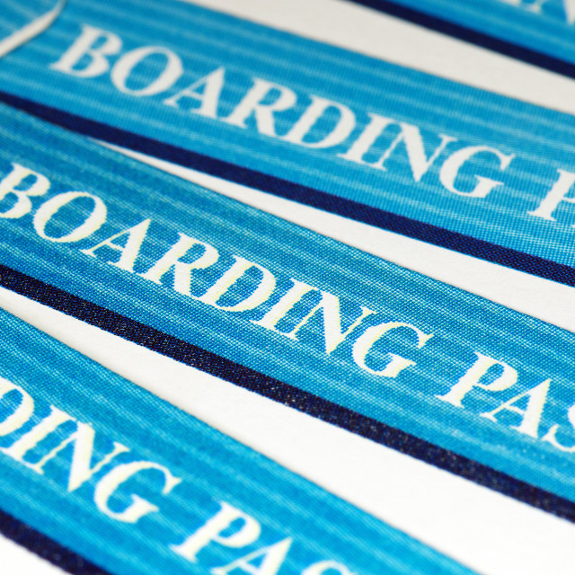 """blue boarding passes"" stock image"