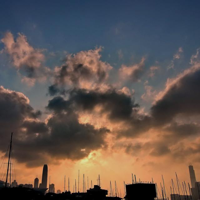 """""""Hong Kong Skyline"""" stock image"""