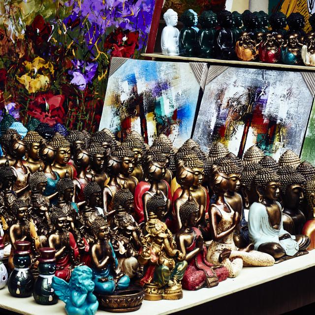"""Souvenir Statues, Ubud, Bali"" stock image"