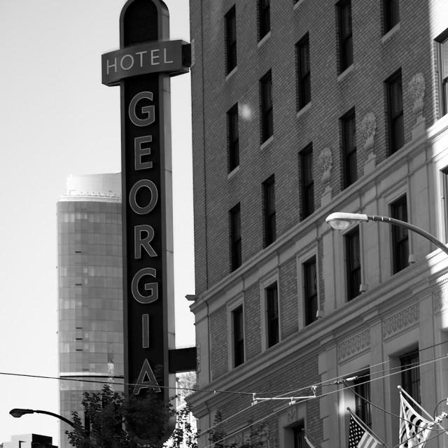 """Hotel Georgia, Vancouver"" stock image"