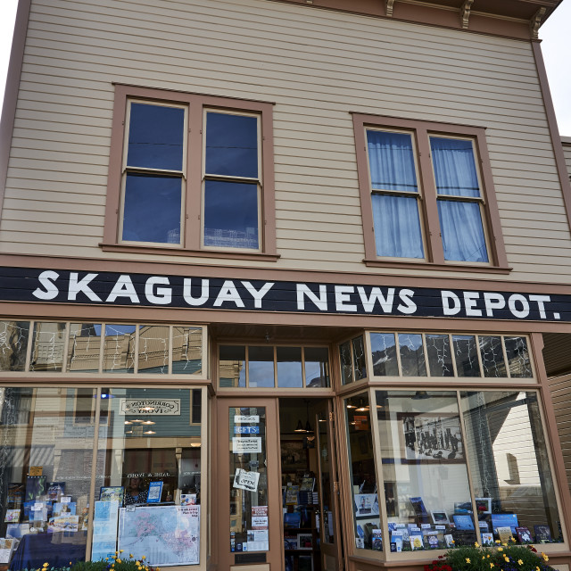 """Skagway News Building"" stock image"