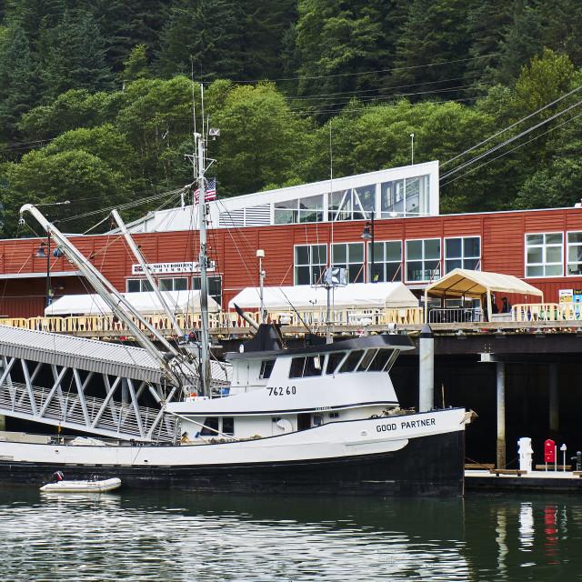 """Fishing Boat, Juneau, Alaska"" stock image"