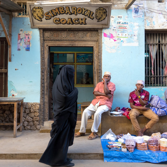 """Daily life in the streets of Lamu Island, Kenya"" stock image"