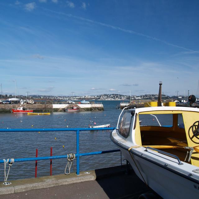 """Paignton Harbour"" stock image"