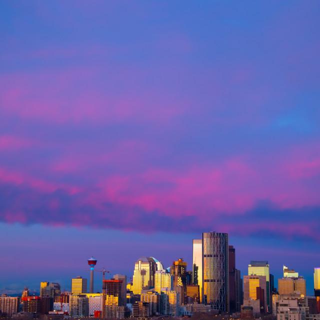 """Crimson Skyline"" stock image"