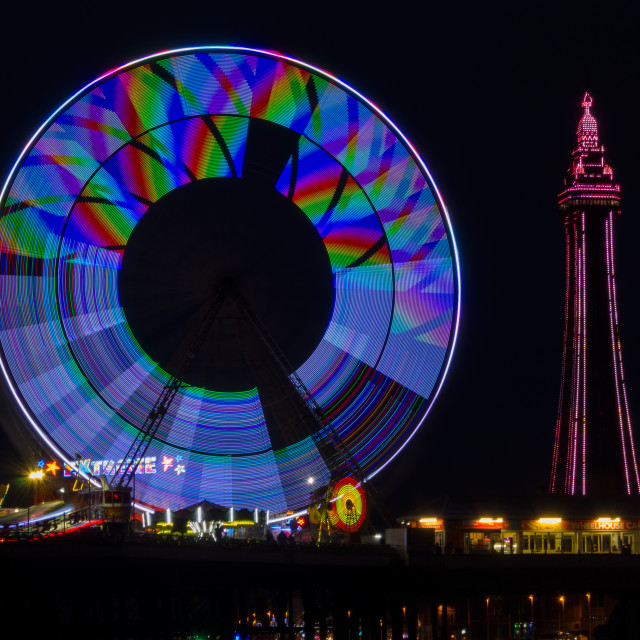 """Central Pier Blackpool"" stock image"