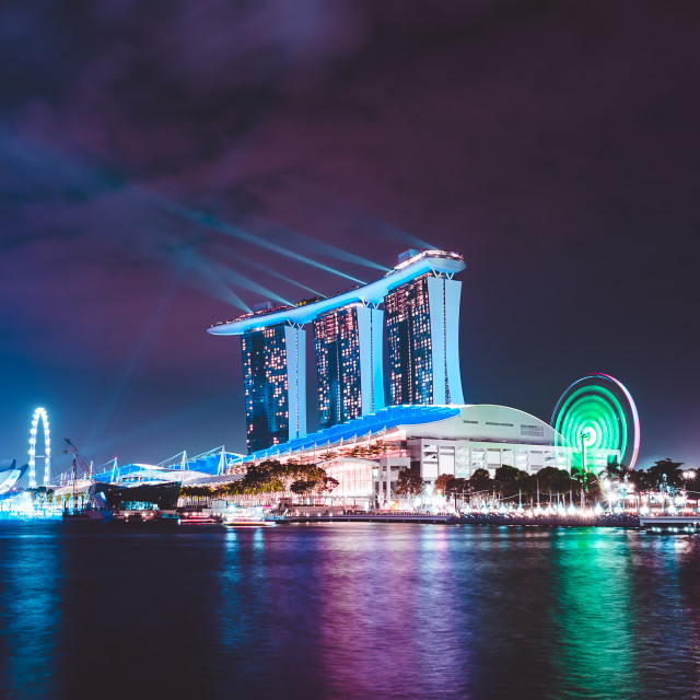 """Singapore light show"" stock image"