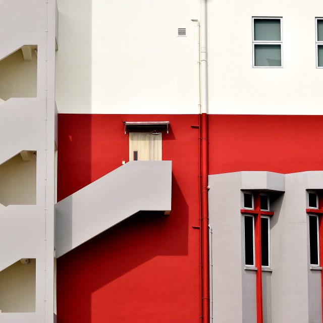 """Facade of an office building in Geylang, Singapore"" stock image"