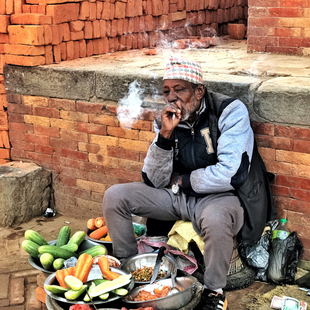 """The smoker hawker"" stock image"