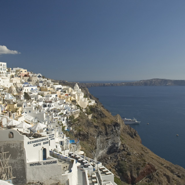 """Fira Santorini,greece"" stock image"