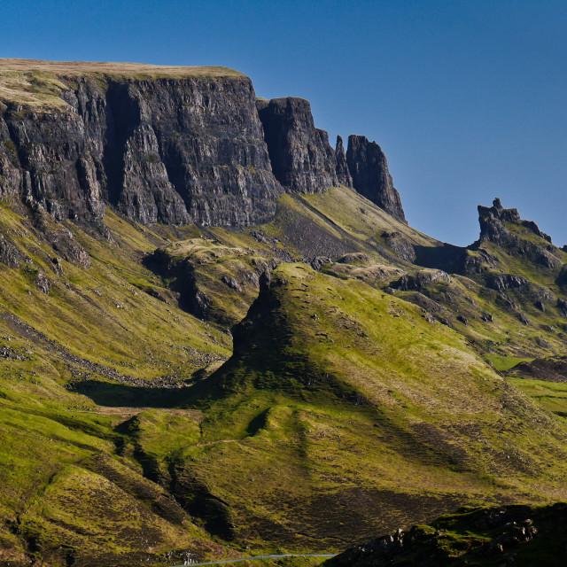 """The Quirang, Isle of Skye"" stock image"