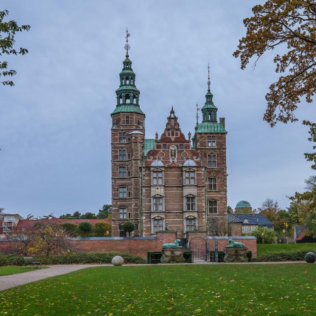 """""""Rosenborg Castle and The King's Garden in Copenhagen"""" stock image"""