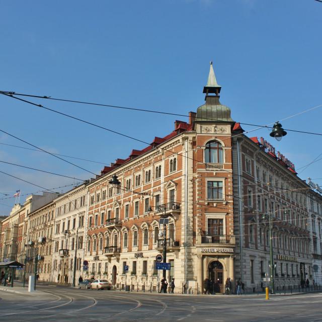 """""""Kraków: Hotel Polonia"""" stock image"""
