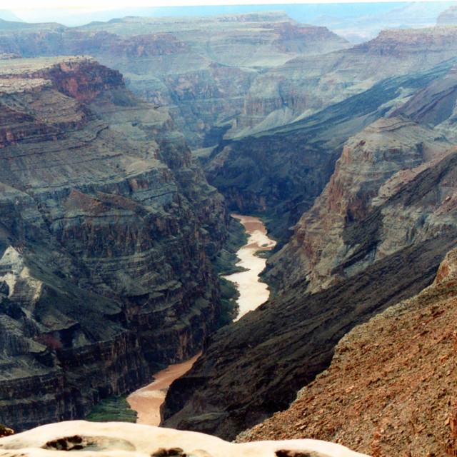 """Raining At The Grand Canyon"" stock image"