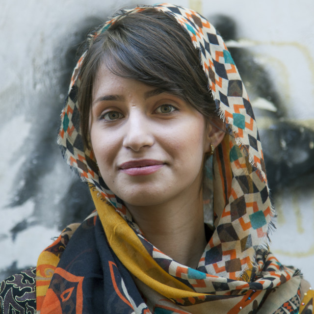 """Beautiful Young Kurdish Woman, Palangan, Iran"" stock image"