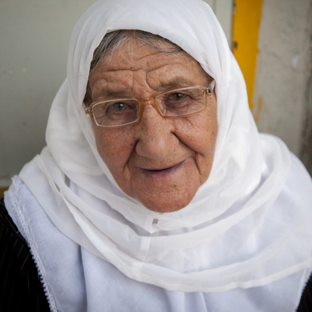 """Old Kurdish Woman, Palangan, Iran"" stock image"
