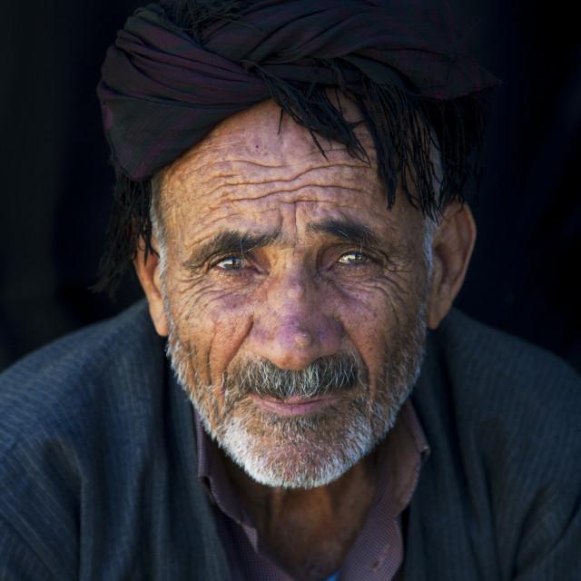 """""""Kurdish Man, Palangan, Iran"""" stock image"""