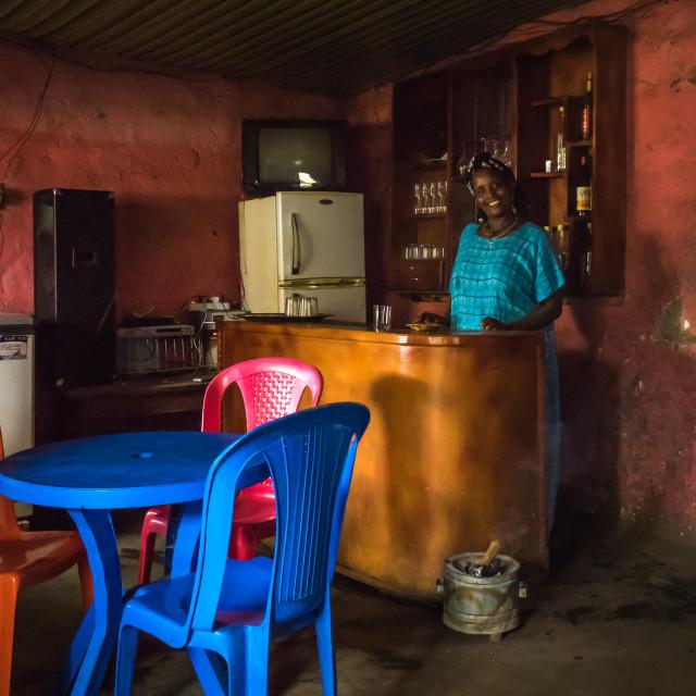 """Inside an ethiopian bar, Jinka, Ethiopia"" stock image"
