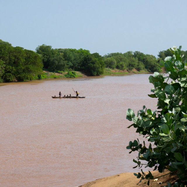 """""""On the banks of the Omo River, Omorate , Omo Valley, Ethiopia"""" stock image"""