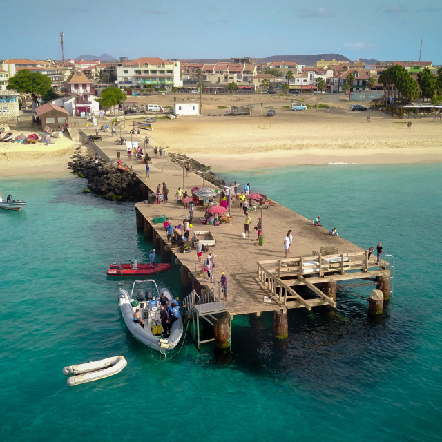 """Santa Maria Pier, Cape Verde"" stock image"